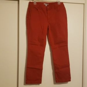 Chico's red jeans